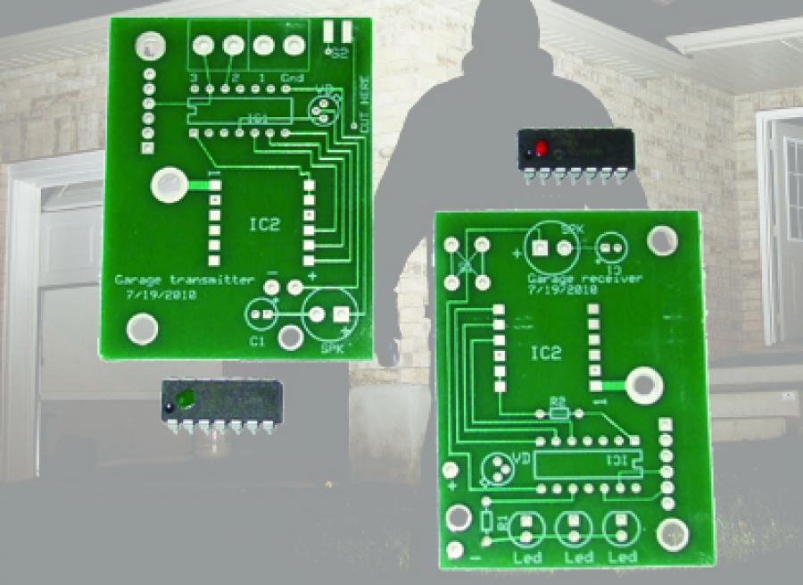 Garage Door Alarm PCB & Chip Set