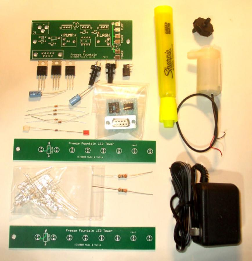 Freeze Fountain PCB & Components Kit