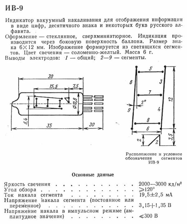 IV-9 Numitron Tube: THE JUNKBOX - For Electronics Hobbyists