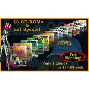 SERVO 14 CD-ROM & Hat Special