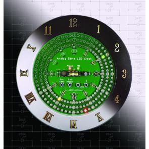 Analog-Style LED Clock Complete Kit