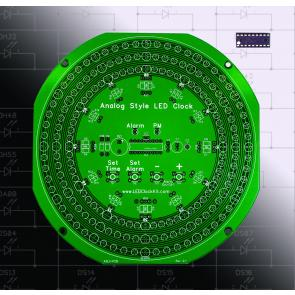 Analog-Style LED Clock PCB and Programmed Chip Set